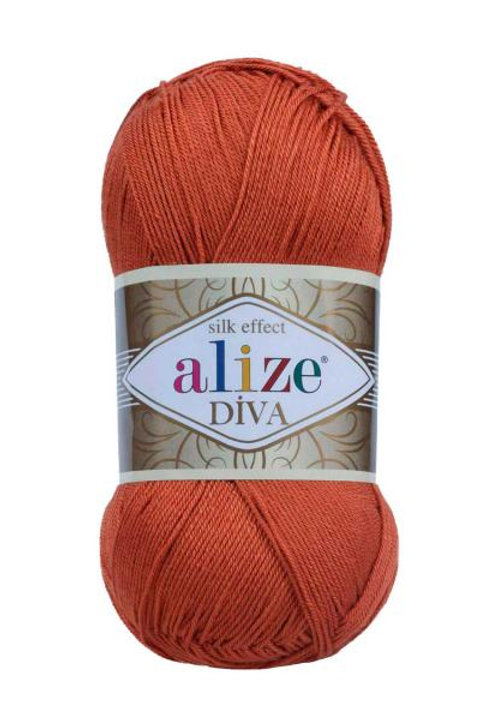 Alize DIVA Stretch 36 кирпичный