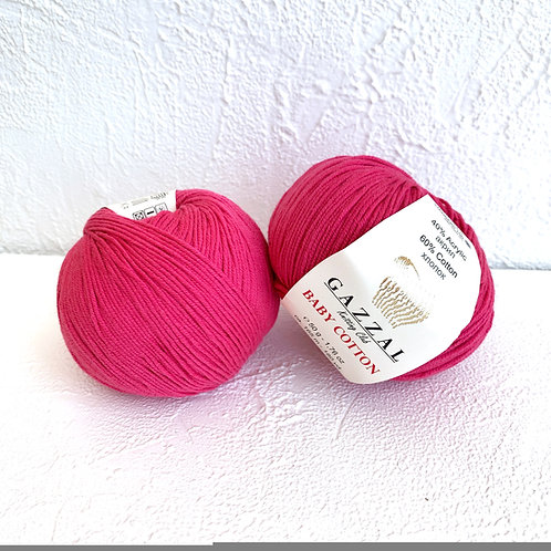Gazzal Baby Cotton 3415 (ярко-розовый)