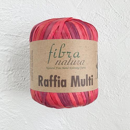 Fibranatura Raffia Multi Малиновый/117-02