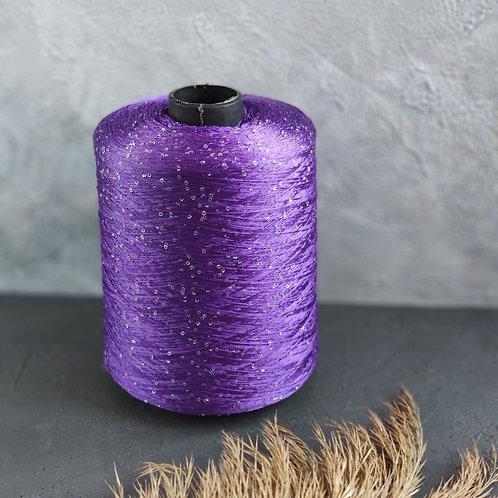 Paillettes (100% полиамид с пайетками) (036-фиолетовый)