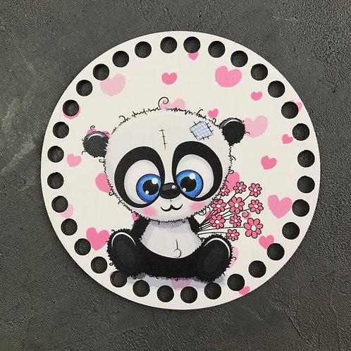 Крышка для корзины 15см  панда
