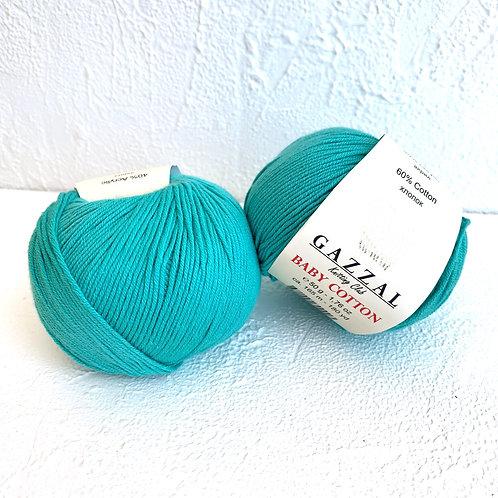 Gazzal Baby Cotton 3426 (бирюзовый)