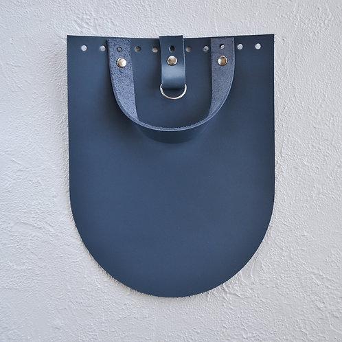 Кожаный клапан для рюкзака (джинс)