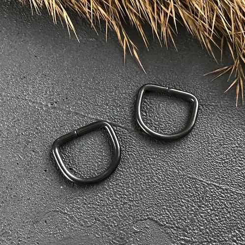 Полукольцо разъемное 20мм тёмный никель