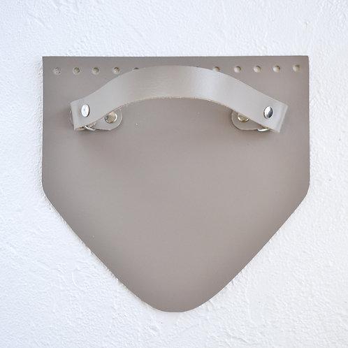 Кожаный клапан треугольный (капучино)