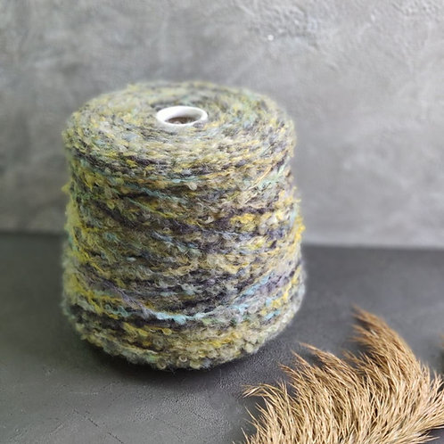 Eclisse БУКЛЕ зелёный камыш  (20% альпака, 80% меринос)