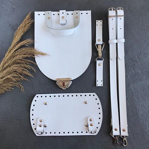 Набор для рюкзака из натуральной кожи, цвет - белый