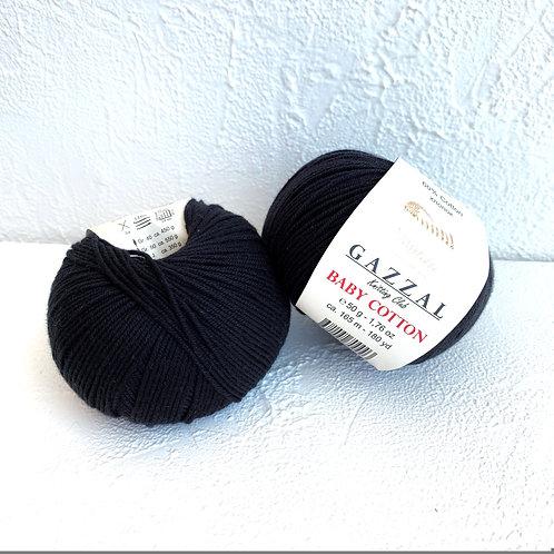 Gazzal Baby Cotton 3433 (чёрный)