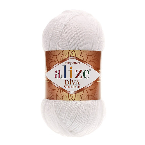 Alize DIVA Stretch 55 белый