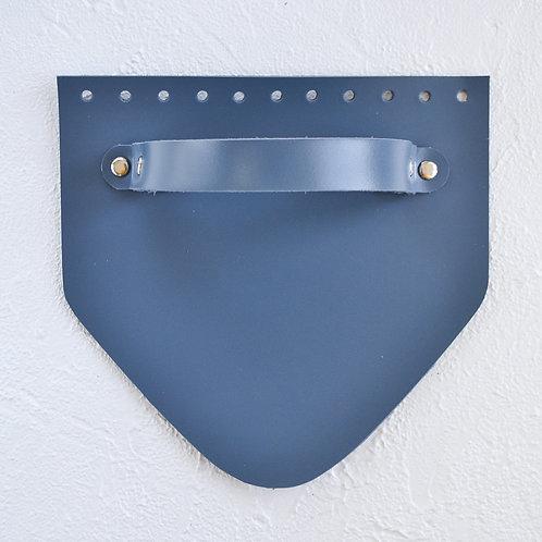 Кожаный клапан треугольный (джинс)