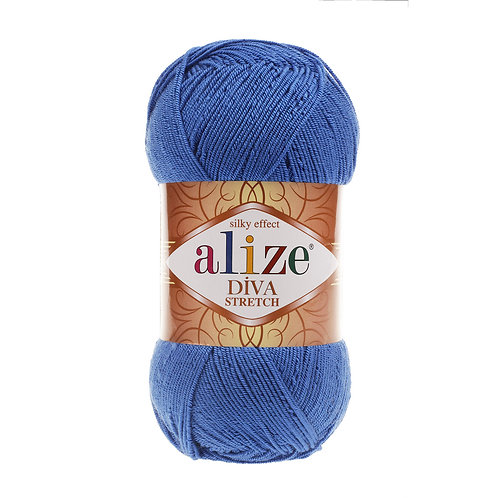Alize DIVA Stretch 132 синий