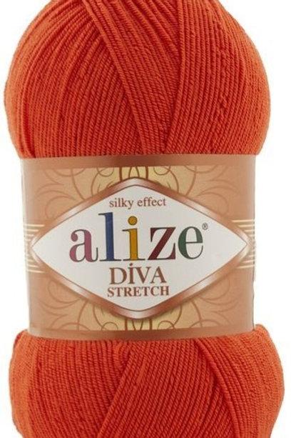 Alize DIVA Stretch 37 оранжевый