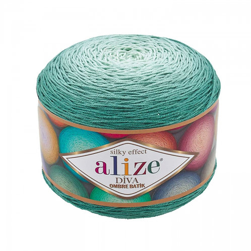 Alize DIVA OMBRE batik 7369 пыльная мята
