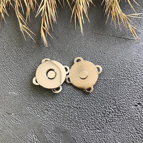 Кнопка магнитная пришивная серебро