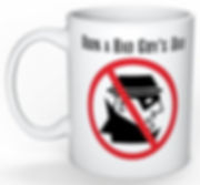 Bad Guy Coffee Mug Logo Printed on Both Sides - 11 oz. Mug Perfect for promoting your loss prevention awareness program.