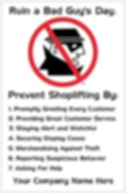 Shoplifting Awareness Poster 2 Premium Poster Card Stock 11 x 17 This thick stock has a classic, elegant glossy finish with a professional look – perfect for promoting your loss prevention awareness program.