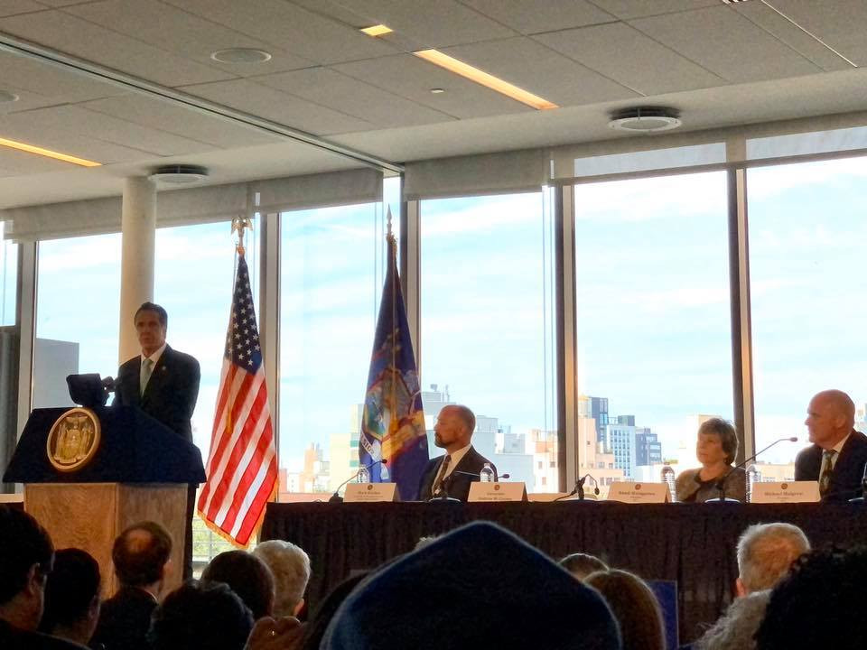 cuomo speaking at educational alliance