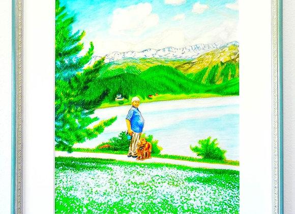 サンモリッツ湖の散歩