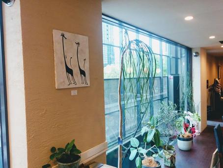 所属アーティストの川瀬大樹さんの作品が展示されました。