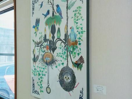 所属アーティストの濱野裕理さんと藤田すみよさんの作品が展示されました。