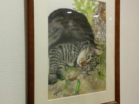 所属アーティストの藤田すみよさん、内田勝美さん、松浦清実さんの作品が展示されました。