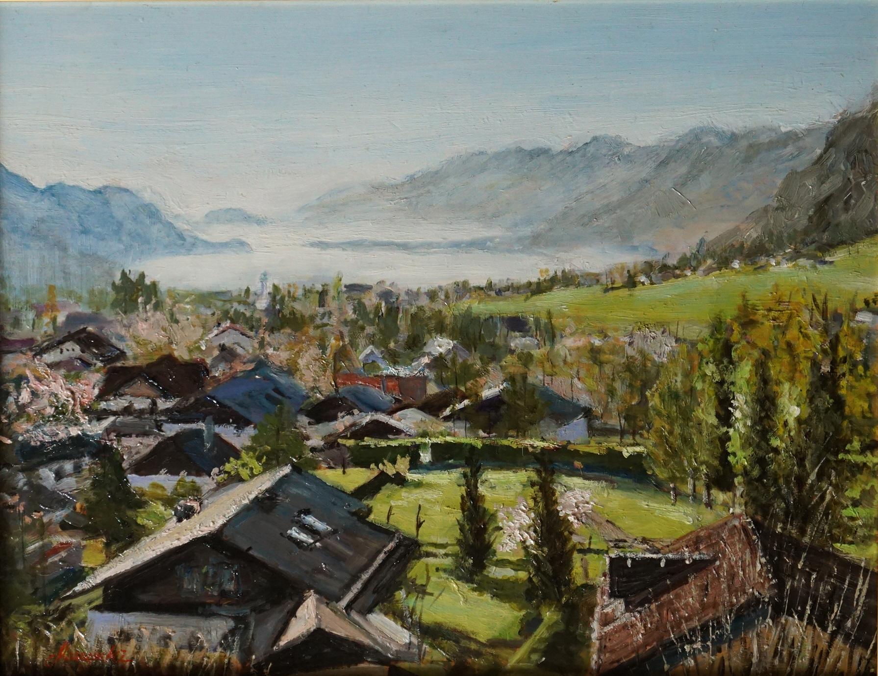 湖水村の春