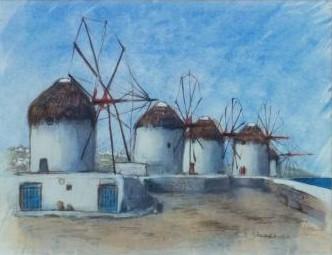丘の上の風車