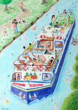 夏だ!バカンスだ! 運河クルージング!