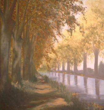 秋のローヌ・オ・ラン運河