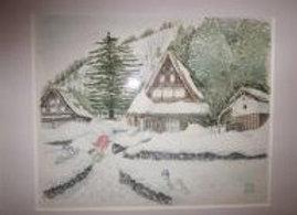 飛騨高山 雪かきの後で