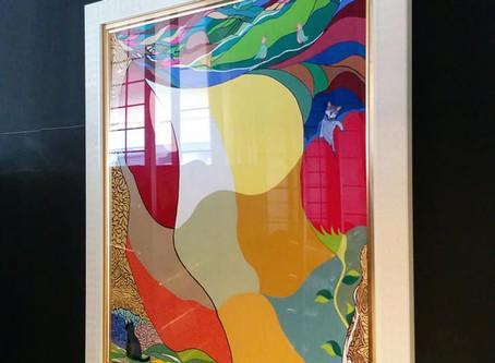 所属アーティストの松本邦秀さんの作品が展示されました。
