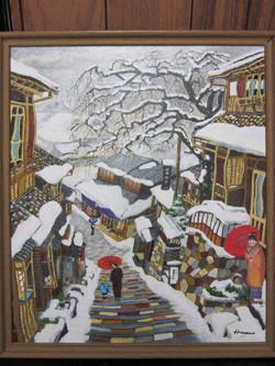 初雪 三面坂は雪でした