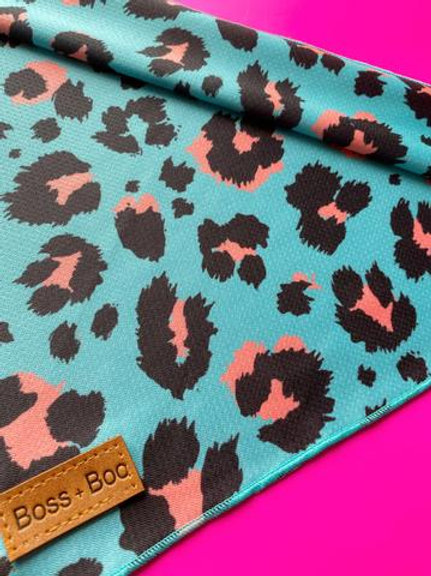 Boss + Boo - Aqua Cheetah Bandana