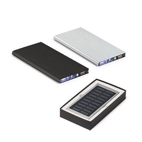97314s Power Bank em Alumínio com Painel Solar. 02 Opções de Cores. 8.000 mAh