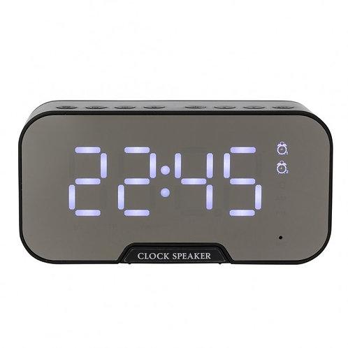 03019x Caixa de Som Multimídia com Relógio e Suporte para Celular 3W