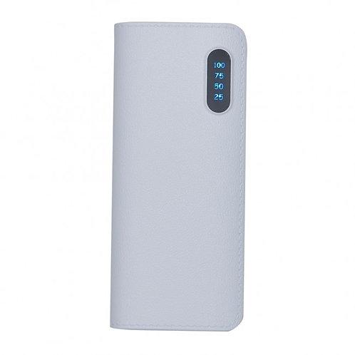 02041x Power Bank Plástico com Indicador e Lanterna. 02 Opções de Cores. 5.600mA