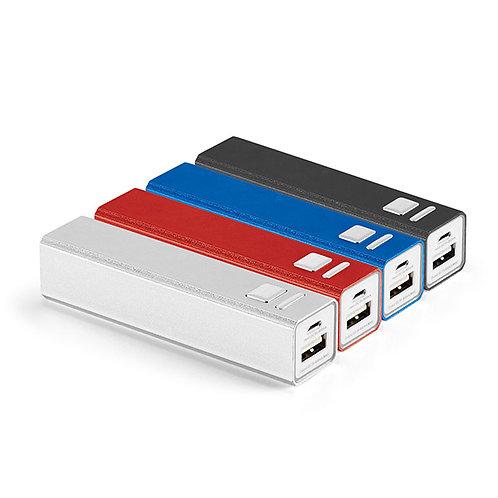 97382s Power Bank em Alumínio. 04 Opções de Cores. 2.600 mAh