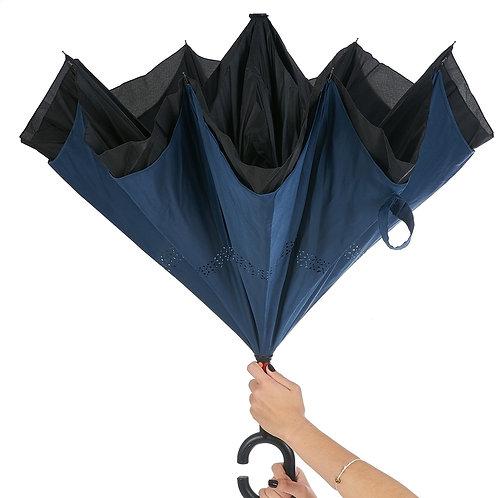 13857x Guarda-chuva Invertido. Cinza ou Azul