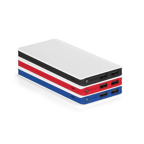 97901s Power Bank Plástico com Lanterna. 03 Opções de Cores. 11.000 mAh