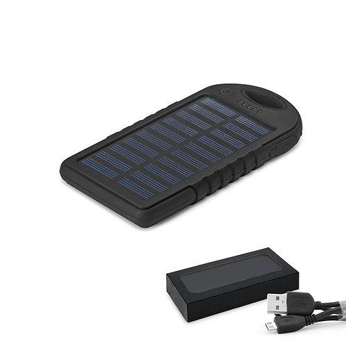 97371s Power Bank Plastico com Painel Solar. Preto. 2.000 mAh