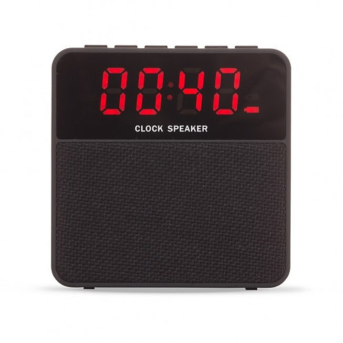 02071x Caixa de Som Multimídia com Relógio 3W