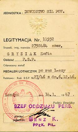 Medal certificate 2