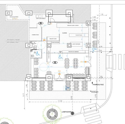 Plan du restaurant et ses abords