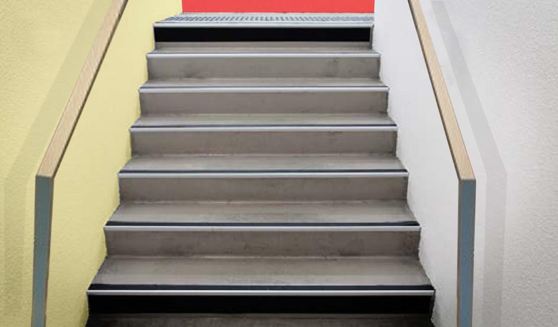 Escalier adapté