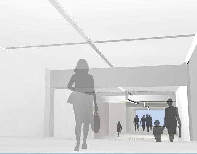 Vue intérieure de la galerie