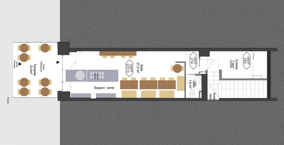 Plan d'aménagement du restaurant