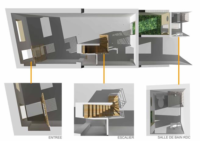 Asnière Rénovation-Surélévation Plan RdC