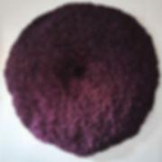 """""""Caloplaca Lichen, purple"""", 72 x 72 x 8 in; 183 x 183 x 20 cm  December 2018  (sold)"""