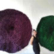 """""""Caloplaca Lichen, green"""", 72 x 72 x 8 in; 183 x 183 x 20 cm  December 2018"""
