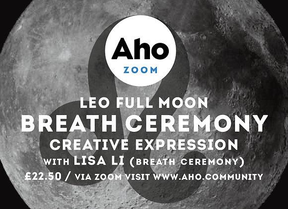 Leo Full Moon, Breath Ceremony, Fri 29th Jan, 6-8pm
